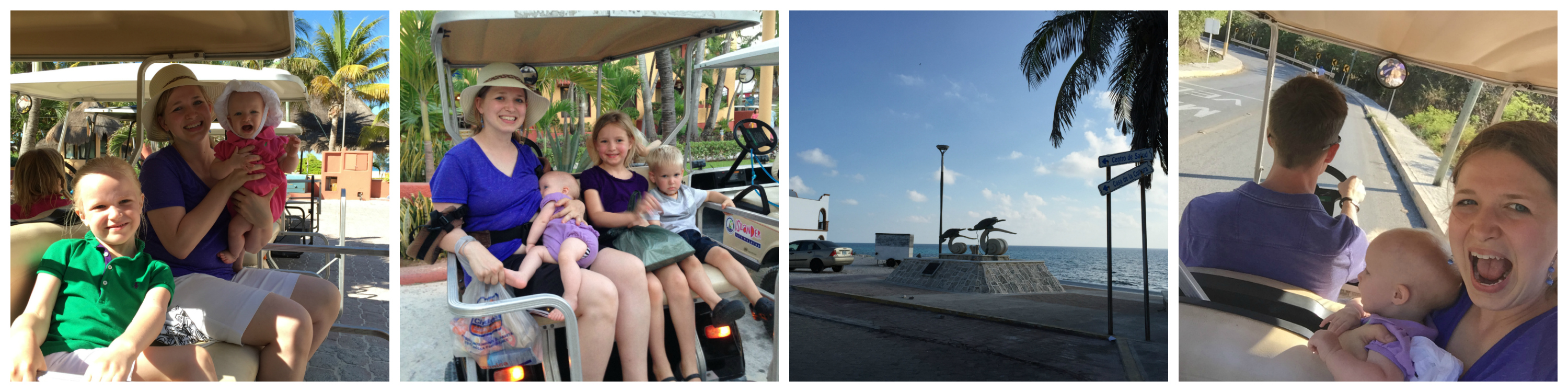 (Hey, it's me riding a golf cart, 25 pounds heavier than I am now! :P)